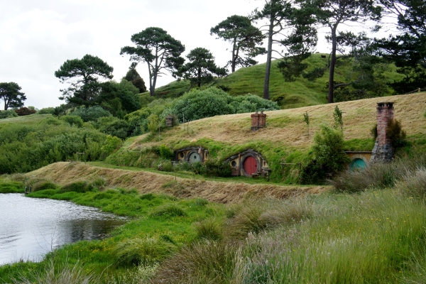 little hobbit houses in a row