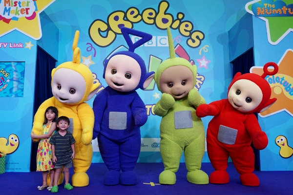 photo with the Teletubbies