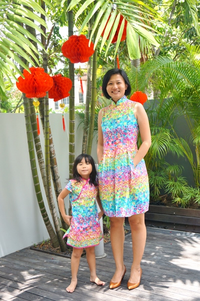 Day 3 with matching cheongsam
