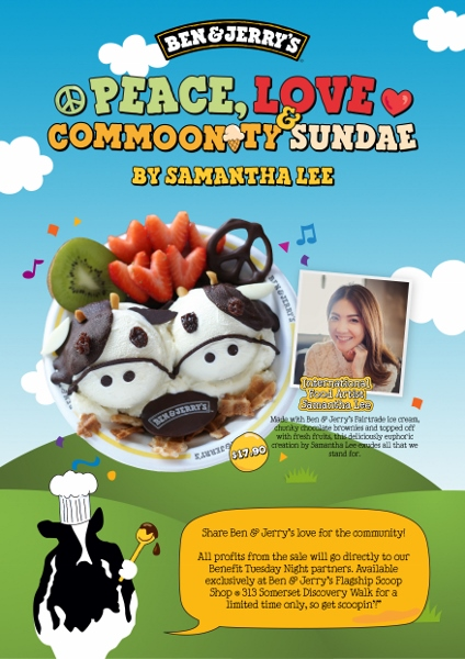 get your Peace, Love & Commoonity Sundae!