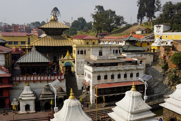 looking towards Pashupatinath