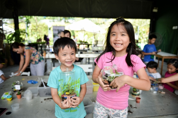 very pleased with their terrariums! (photo credit: Ashley Mak)
