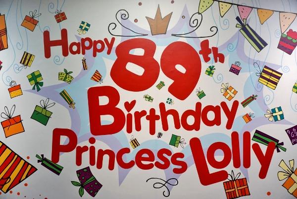 celebrating Princess Lolly's birthday