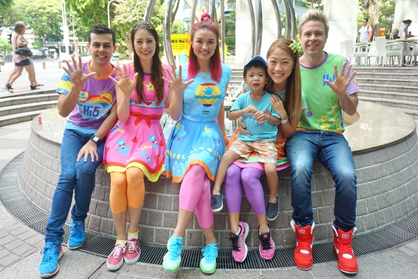 with the new Hi-5 members