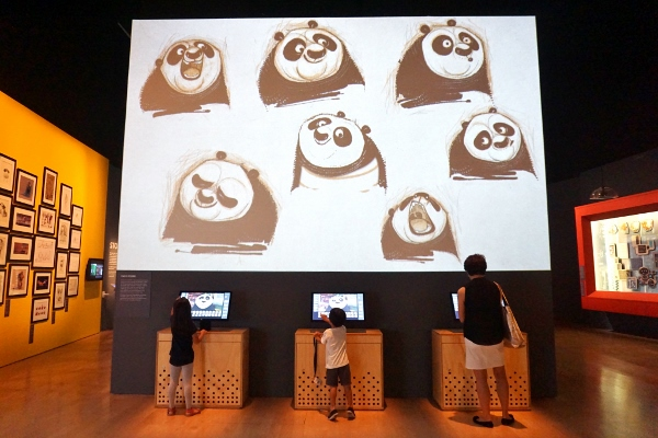 a panda of many expressions