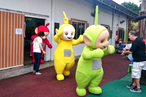 and the Teletubbies