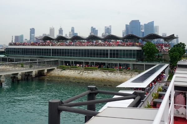 crowds at Marina South Pier