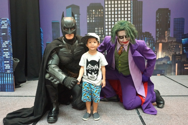 a photo with The Dark Knight and Joker