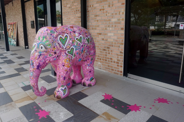 look for the pink elephant