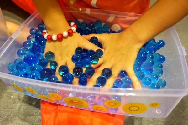 squishing the beads