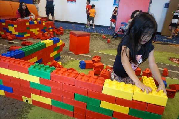 large foam bricks to keep the kids entertained