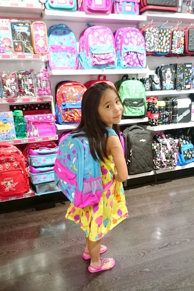 her school bag for next year